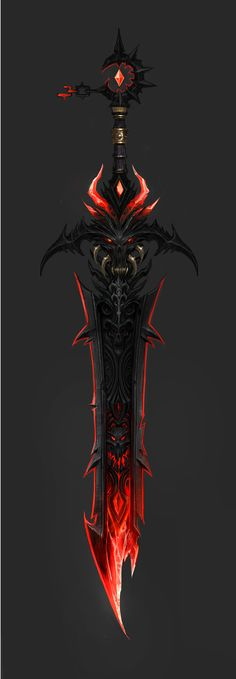 Anime Weapons, Sci Fi Weapons, Armor Concept, Weapon Concept Art, Fantasy Sword, Fantasy Armor, Fantasy Weapons, Dark Fantasy Art, Fantasy Character Design