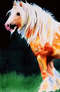 Crystal Cook, horse watercolor