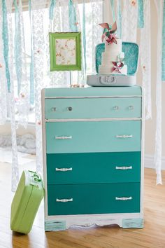 SOLD  Green dresser   baby's room by AUBEdesign on Etsy, $425.00