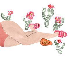 fluffy slip-ons  #miumiu #shoes #fashion #fashionillustation #watercolor #fluffy #fw16 #illustrationartists #picame #cacti #papaya