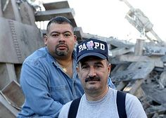 John McLoughlin (with the moustache) and Will Jimeno were members of the PAPD (Port Authority Police Department) on September 11, 2001. They were trapped in the rubble of a collapsing tower as they tried to help victims of 9-11.
