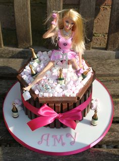 Drunken Barbie cake - Little Love Cakes London