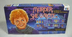 Vintage MURDER SHE WROTE Board Game 1985 Mystery Writer Jessica Fletcher Angela Lansbury.  I would soooo buy this if I found it affordable :-) Such a Kristi-Pants kinda game I bet ;-)