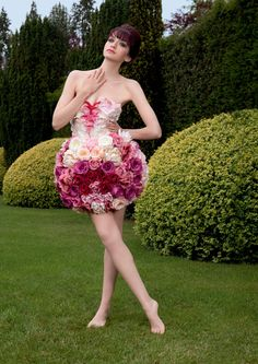 Beautiful floral dress created by Petra Storrs for Yardley London