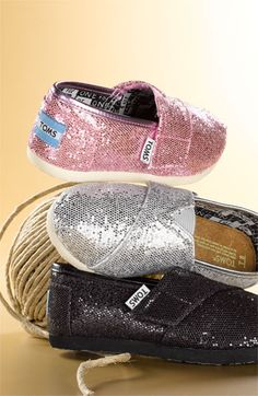 TOMS 'Classic Tiny - Glitter' Slip-On