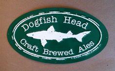 Dogfish Head Craft Brewed Ales metal beer sign