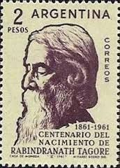 Argentina stamp - 100 Years Anniversary of the birth of Rabindranath Tagore 1861-1961