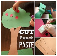 7 Fall-Themed Fine Motor Activities {Cut, Punch, Paste} #SuliaMoms #preschool