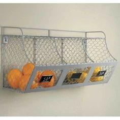 Shop for Silver Metal Multi-bin Storage Basket. Get free delivery at Overstock.com - Your Online Kitchen