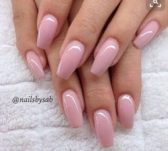 Light pink coffin shaped nails #FrenchTipNails