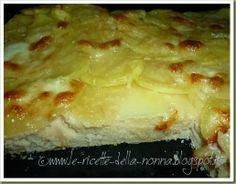 Pizza bianca con patate e mozzarella Mozzarella, Pane, Finger Food, Macaroni And Cheese, Pizza, Bread, Ethnic Recipes, Cooking, Side Dishes