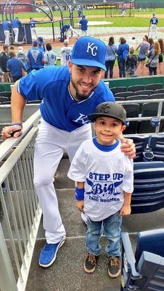Eric Hosmer spent time meeting Big Brothers Big Sisters of Kansas City participants at The K. Hosmer serves as an ambassador for the organization, encouraging people to get involved.