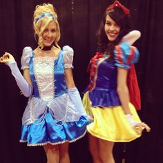 Cinderella and Snow White at #D23Expo with Party City! What's your favorite Disney Princess costume? Be magical! #BeACharacter