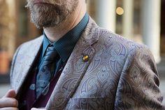 Love a unique combination for formal menswear.