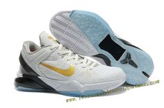 Nike Zoom Kobe 7 Shoes Elite Kobe Playoff HomeWhite Gold