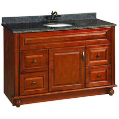@Overstock.com - Design House Montclair Chestnut Glaze Vanity Cabinet - This gorgeous Design House vanity features a solid wood door and drawer frames and is finished in a chestnut glaze with a water resistant seal.   http://www.overstock.com/Home-Garden/Design-House-Montclair-Chestnut-Glaze-Vanity-Cabinet/8166479/product.html?CID=214117 $675.49