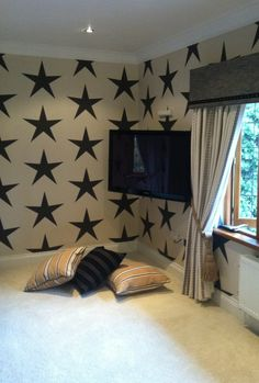 star wallpaper - so great for a boy's room
