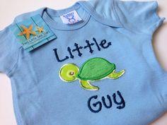 Little Guy Turtle Onesie 36 Months by twolittleseastars on Etsy, $20.00