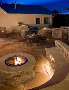I want this for my future dream back yard an amazing fire pit well lit area for guest and an outdoor kitchen for when i get to cooking all my crazy inventions.
