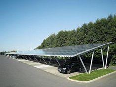 zpnnepanelen als dak voor een parkeergelegenheid