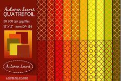 Check out Autumn Leaves Quatrefoil digital pap by Laureling Studios http://crtv.mk/iOAC