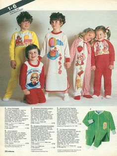 i had the annie nightie and the strawberry shortcake jammies