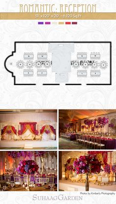 Suhaag Garden is the premiere wedding decor destination for South Asian brides in Florida and the greater southeast region. We transform event design into a work of art. Elegant Wedding Themes, Romantic Wedding Receptions, Indian Wedding Decorations, Wedding Ideas, South Asian Bride, South Asian Wedding, Reception Design, Event Design, Wedding Floor Plan