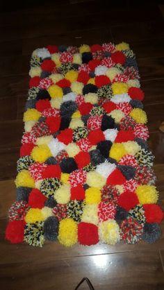 Pompom rug...circus theme