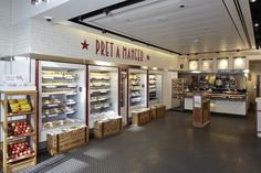 Pret A Manger. | Its almost like Panera, that's why I like it, and everything they make is fresh. And when there is food they didn't Sell during the day, they give to homeless shelters and such. Another reason why I like them.