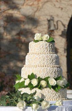 Pastel de bodas de Ideal Cakes.