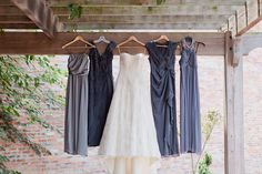 rustic glam wedding | Jennifer Blair. I love the subtle color differences in the bridesmaid's dresses - and the dusty purple/blue is gorgeous!