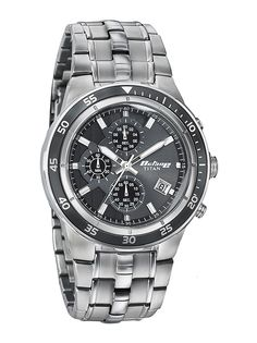 Titan launched new Watch - 9466KM06J. Watch Color: Grey, Function: Chrono-Date, Gender: Men, Material: Steel