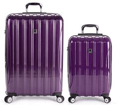 Dimensions and weight: 29 inch 29 X X - 11 pounds, 21 inch carry-on X X 10 - pounds. Old Suitcases, Luggage Sets, Travel Bags, All In One, 21st, Purple, Image Link, Amazon, Travel Handbags