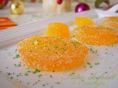 pâtes de fruits à l'orange (citron, clémentine...)                                                                                                                                                                                 Plus Orange Recipes, New Recipes, Sweet Recipes, Favorite Recipes, Gourmet Gifts, Pureed Food Recipes, Chocolates, Sweet Treats, Food And Drink