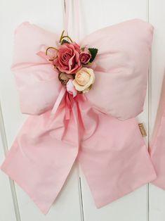 Fiocco capoculla in taffetá rosa