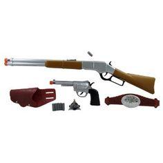 "28"" Western Rifle and Pistol Cowboy Sheriff Toy Gun Playset"