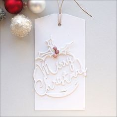 Day 2: Inspired by Pam Simpson's gorgeous monotone tag. I've finally gotten some pics taken of my Christmas tags for Tracey's McNeely's challenge #25daysofchristmastags #25daysofchristmastagslinkup