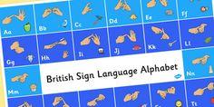 British Sign Language Alphabet Mat