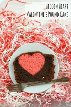 Hidden Heart Valentine's Pound Cake. Such a surprise to cut into luscious chocolate pound cake to find a surprise heart! | Boulder Locavore