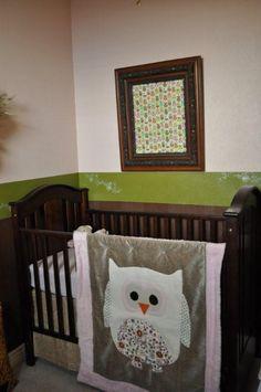 Owl Nursery with Handmade Quilt by Sunflower Designs on Facebook