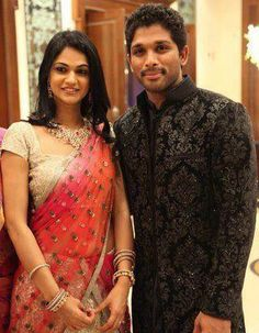Happy Wedding Anniversary to Allu Arjun and Sneha Garu . Stylish Star Allu Arjun and his wife Sneha Reddy, who celebrated their wedding anniversary on March Indian Wedding Deco, South Indian Weddings, Sneha Reddy, Indian Engagement, Celebrity Weddings, Celebrity Couples, Wedding Costumes, Fancy Sarees, Beautiful Bollywood Actress