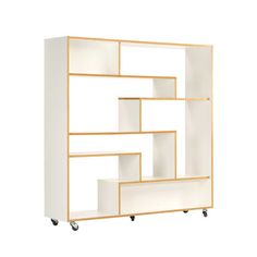 Buy online Southbury By woodman, open divider lacquered wooden bookcase Wooden Bookcase, Cube Bookcase, Etagere Bookcase, Solid Wood Shelves, White Shelves, Metal Shelves, Decoration Design, Deco Design, Corner Display Unit