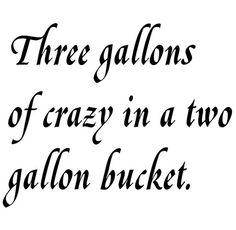 3 gallons of crazy - QS PRN