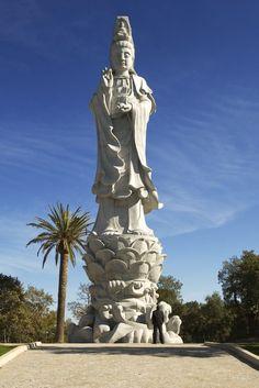 Buddha Eden - DR Portugal, Buddha Eden Garden, Guanyin, Buddhist Art, Secret Places, Statue Of Liberty, Mystic, Backdrops, Terra