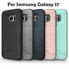 For Samsung Galaxy S7 case, Dual Layer Armor Protective Cover Hybrid Shell Card Kickstand For Samsung Galaxy S7edge