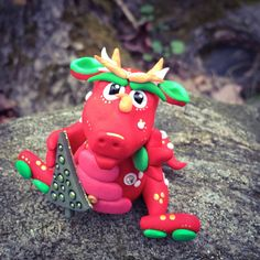 Polymer Clay Dragon 'Holly' Limited Edition by KatersAcres | Available for adoption on Etsy