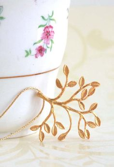 Gold Branch Necklace Delicate Branch Necklace