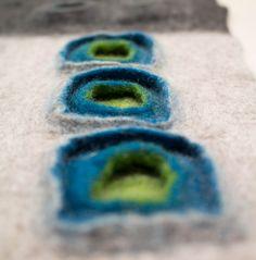Probeflächen entstanden während des workshops bei Filzrausch / Fotos Maria…