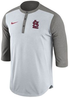 c66ed6411df25 Nike Men s St. Louis Cardinals Dri-Fit 3 4 Sleeve Henley T-Shirt Men -  Sports Fan Shop By Lids - Macy s