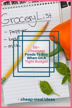 When money is tight we need to find ways to cut back on our budgets, and one of the easiest expenses to save money on is your grocery budget. There are many ways to save on food such as meal planning, couponing, buying in bulk, shopping sales, using grocery apps and much more but if you can put these strategies in place while buying the cheapest foods, you'll be able to stretch your grocery budget even further and get lower your grocery bill. Plus I share some recipes and meal ideas too! Money Saving Meals, Money Hacks, Money Savers, Money Tips, Groceries Budget, Save Money On Groceries, Budget Meals, Ways To Save Money, Save On Foods